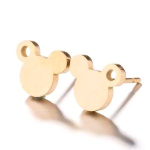 🔆3/$30 New Gold Mickey Mouse Stud Earrings